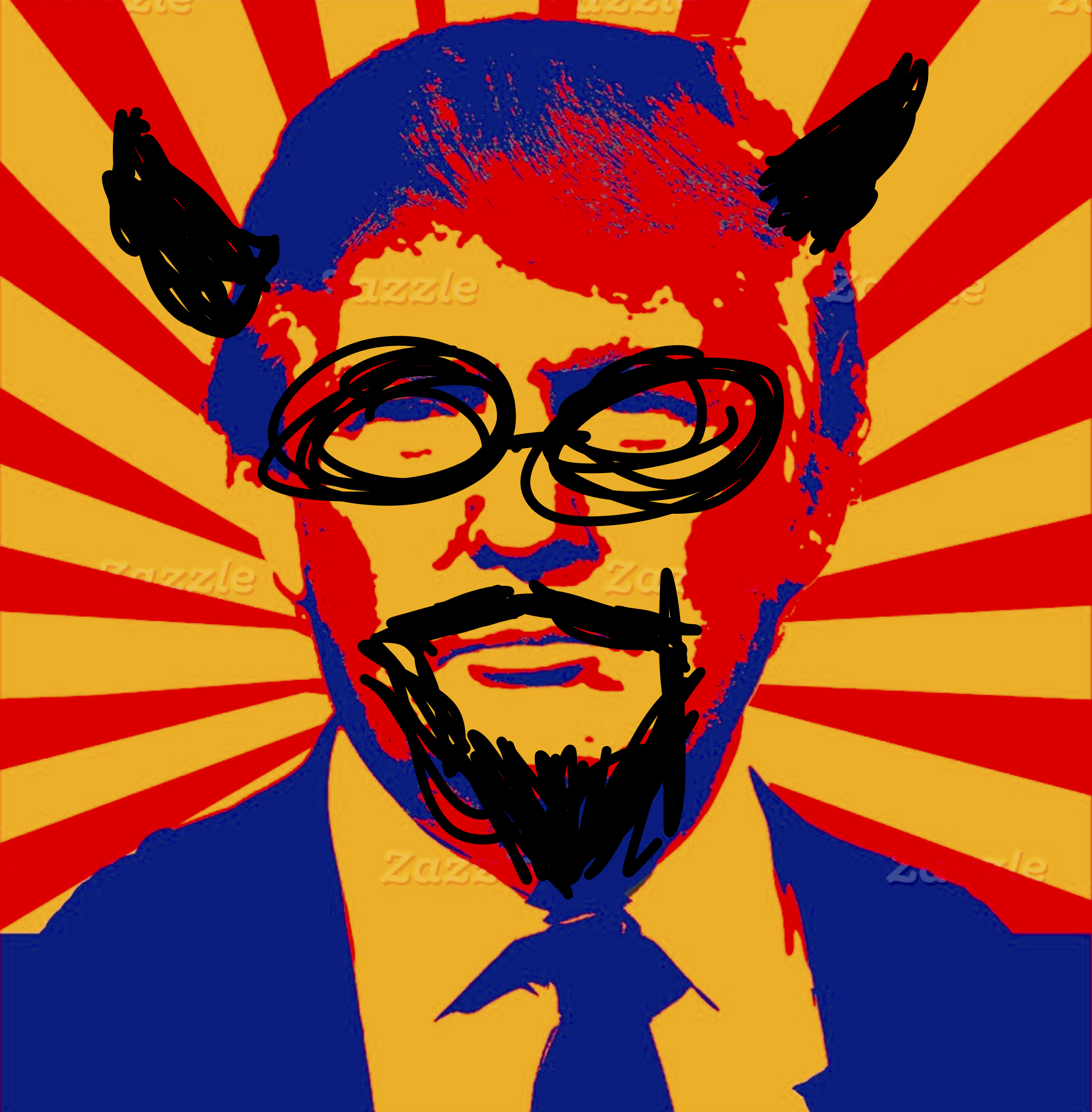 Trump socialitst realism - flattened