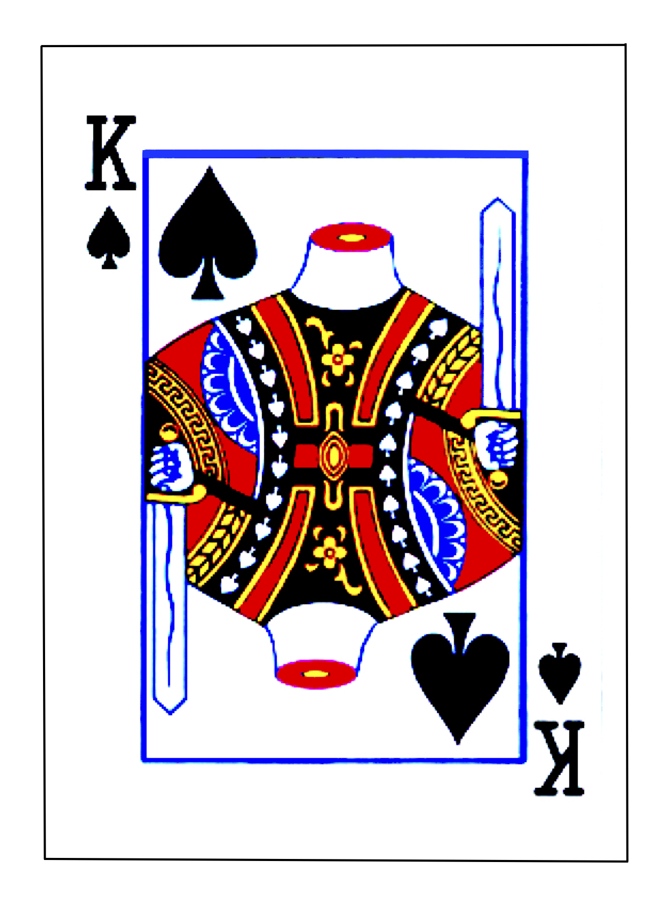 King of Spades (with outline J)