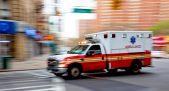Ambulance Speeding in New York, Blurred Motion